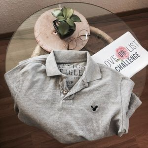Men's Light Grey Polo